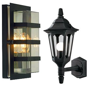 Outdoor lights from easy lighting black outdoor wall lights aloadofball Choice Image