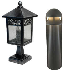 Black Outdoor Pedestal Lights