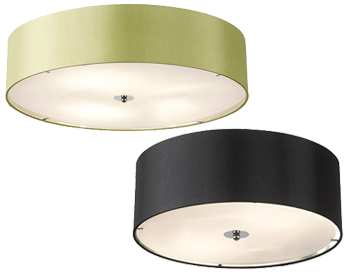 Flush ceiling lights from easy lighting fabric flush ceiling lights aloadofball Image collections