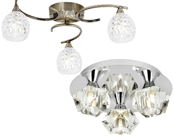 2 And 3 Light Flush Ceiling Lights