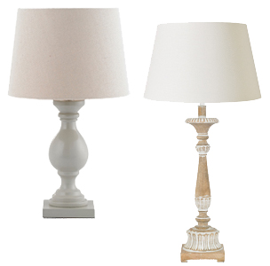 Wood & Painted Wood Table Lamps