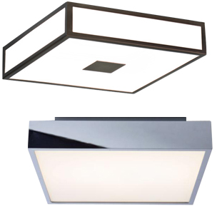 Bathroom lights from easy lighting square flush bathroom ceiling lights aloadofball Choice Image
