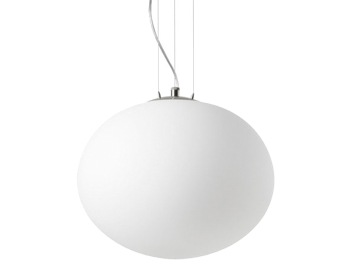 Leds C4 Nimes Ceiling Pendant, Satin Nickel Finish With Opal Glass Diffuser - 00-1640-81-F9