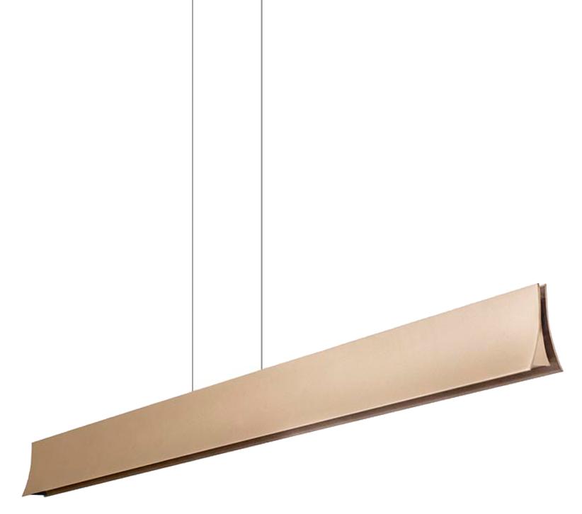 Leds C4 Bravo LED Bar Pendant Light, Painted Gold Finish