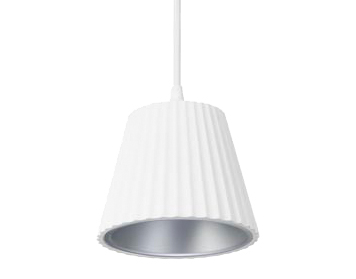 Leds C4 Cup LED Ceiling Pendant Light, White Finish With Grey Diffuser - 00-5362-14-34V1