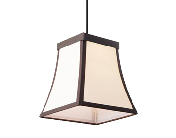 Leds C4 Fancy LED Ceiling Pendant, Dark Brown Finish With Beige Diffuser - 00-5425-CI-20