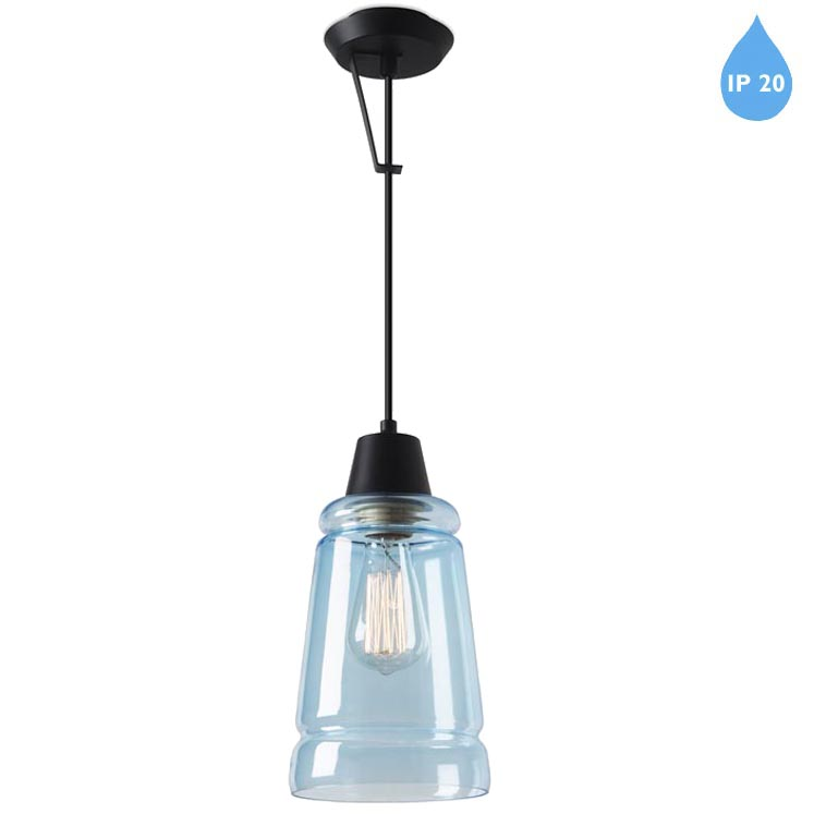 copenhagen light transparent medium topaz rowan collection shop ceiling by in glass lights blue type pendant mini globe