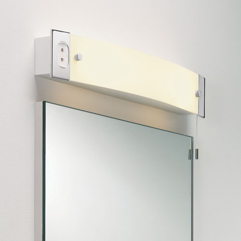 Astro Shaver Light IP20 Bathroom Wall Polished Chrome