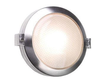 Astro Toronto Round Exterior Wall Light, Polished Aluminium Finish - 0325