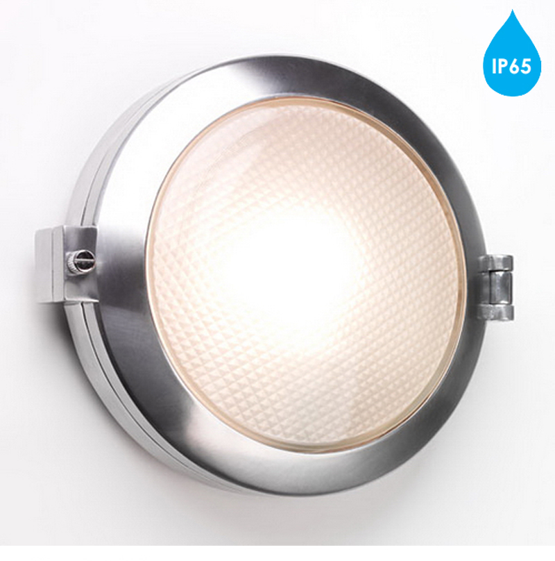 Exterior Wall Lights Ip65 : Astro Toronto Round IP65 Exterior Wall Light, Polished Aluminium - 0325 from Easy Lighting