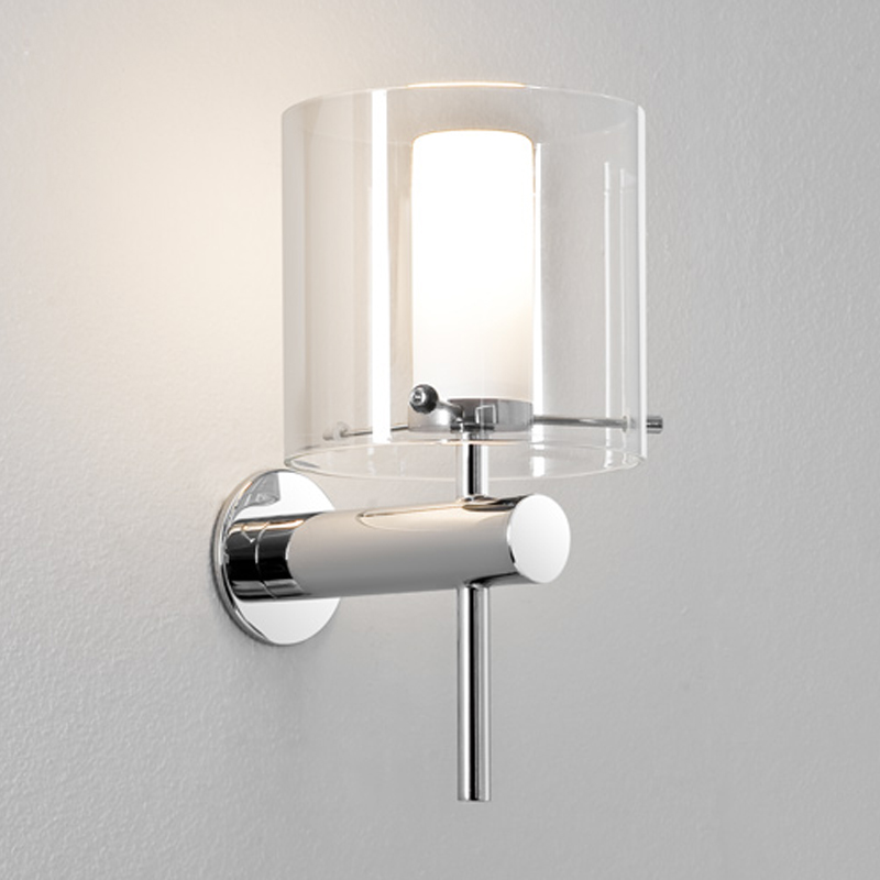 Astro 39 tube led 39 ip44 bathroom wall light polished chrome for Bathroom zone 2 ip rating