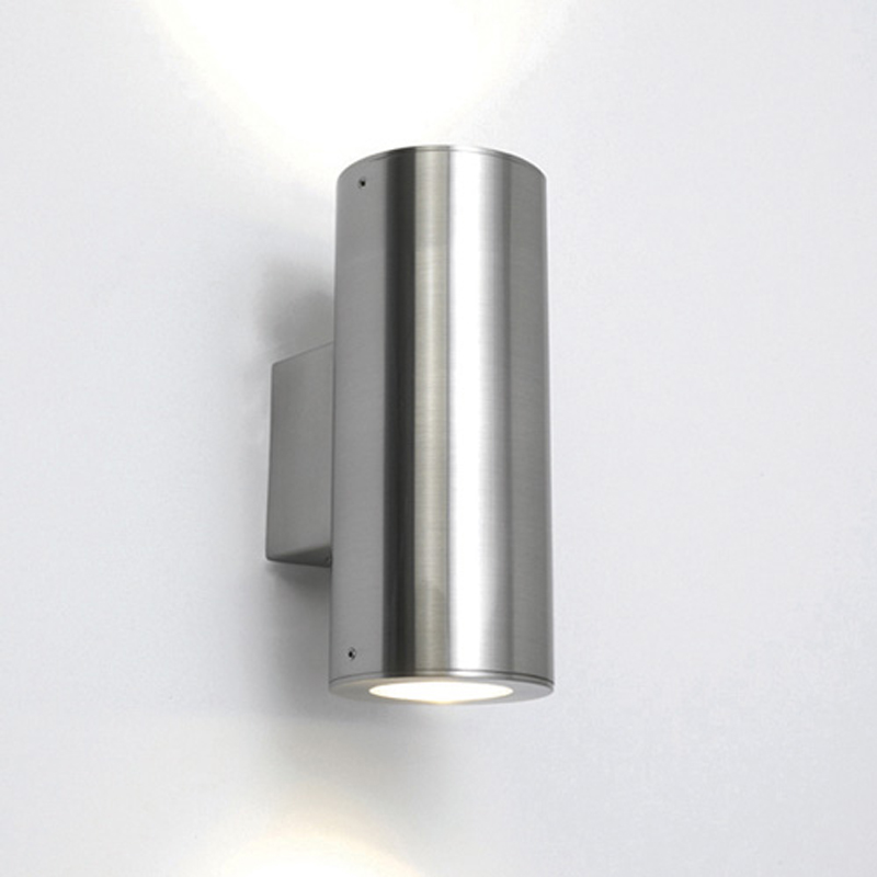 Astro 'Detroit' IP44 Outdoor Up & Down Wall Light, Stainless Steel - 0381