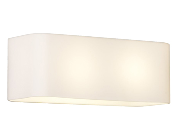 Astro Obround Wall Light, White Glass & Polished Chrome Finish - 0408