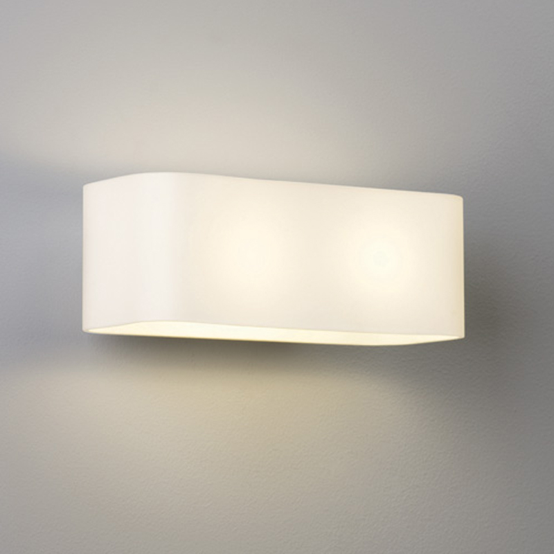 Up and down wall lights from easy lighting astro obround ip20 wall light white glass polished chrome 0408 aloadofball Images