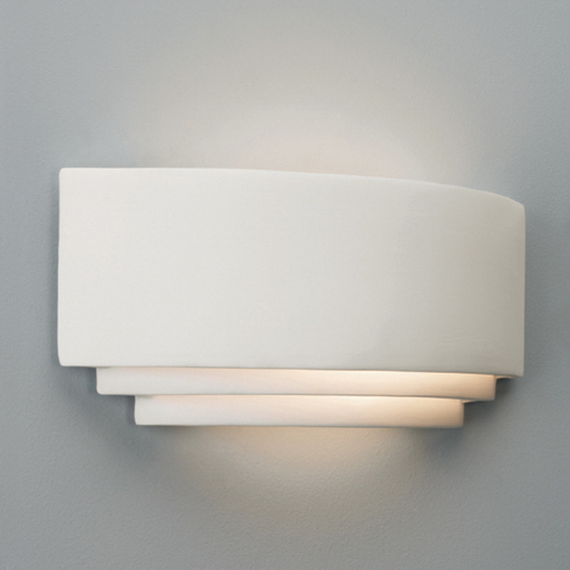 Up and down wall lights from easy lighting astro amalfi ceramic ip20 single wall light fixture white finish 0423 mozeypictures Images