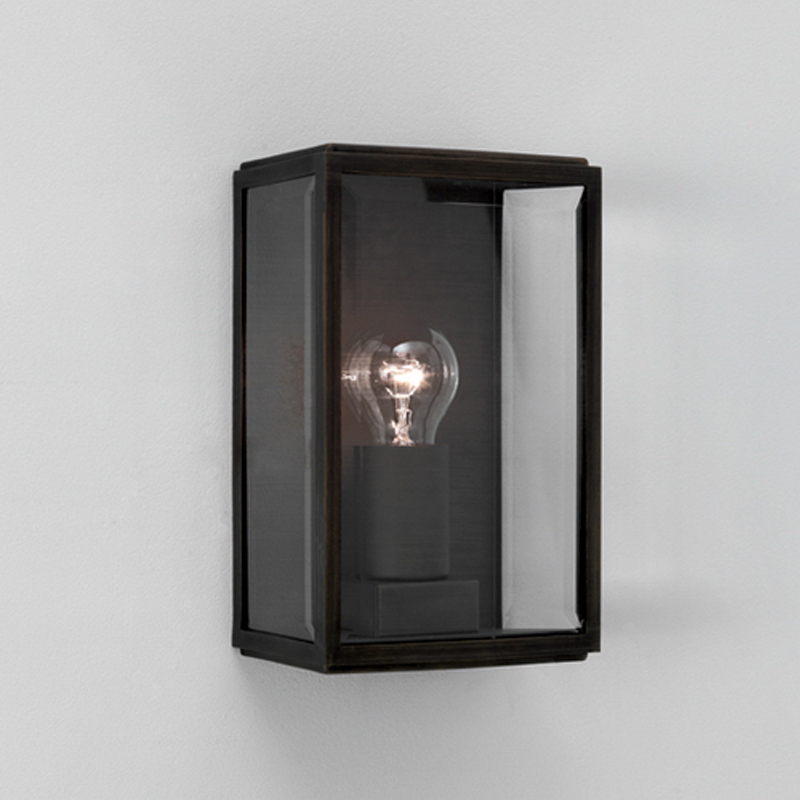 Astro homefield ip44 outdoor flush wall light with pir sensor astro homefield ip44 outdoor flush wall light black finish clear glass aloadofball Images