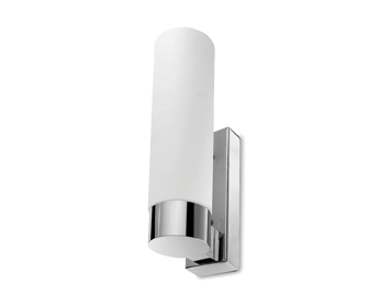 Leds C4 Dresde Evo 285 18W Bathroom Wall Light, Chrome Finish With Opal Diffuser - 05-0026-21-F9