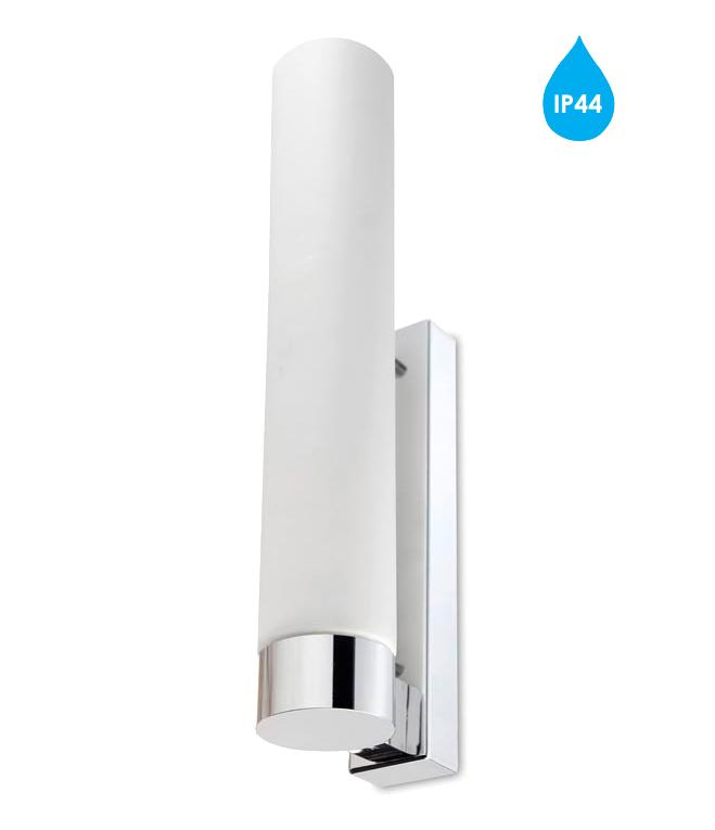 Wall Light Glass Diffuser : Leds C4 Dresde Evo IP44 36w Bathroom Wall Light, Polished Chrome & Opal Glass Diffuser - 05 ...