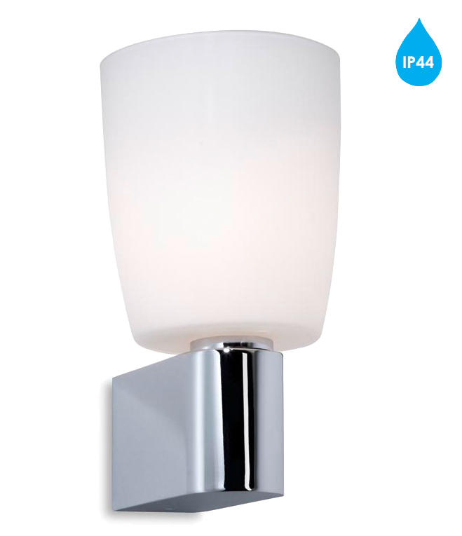 Wall Light Glass Diffuser : Leds C4 Orion IP44 Bathroom Wall Light, Polished Chrome & Opal Glass Diffuser - 05-1383-21-F9 ...