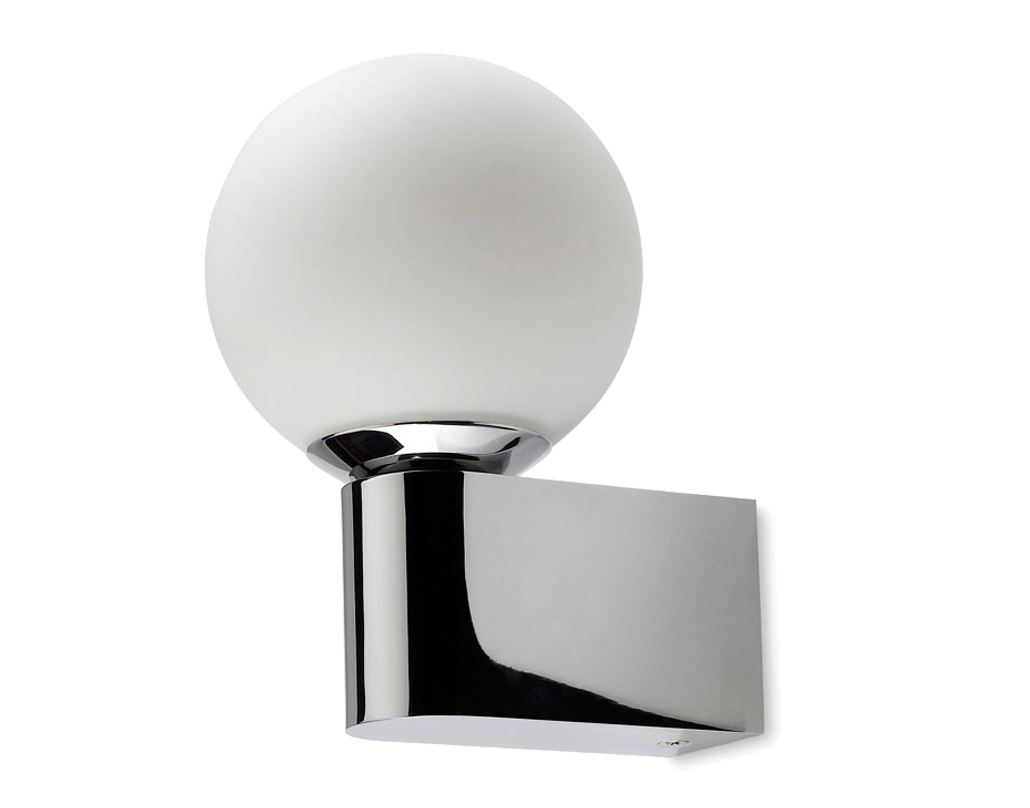 Bathroom lights bathroom wall lights artemis 900 rounded led strip - Leds C4 Orion Ip44 Led Bathroom Wall Light Polished Chrome Opal Glass