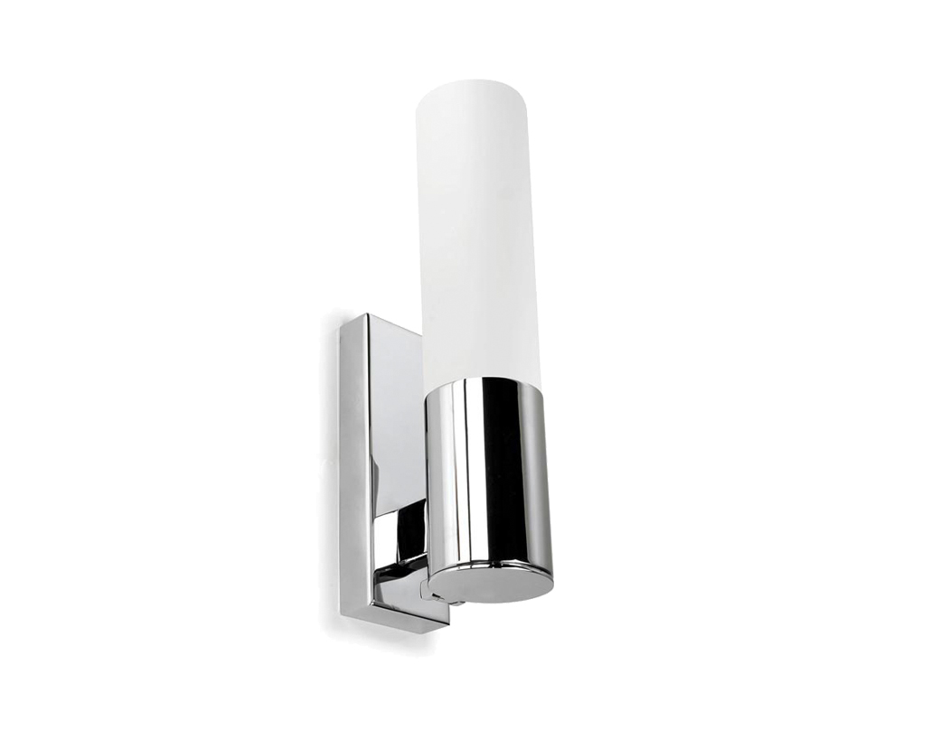 Bathroom lights bathroom wall lights artemis 900 rounded led strip - Leds C4 Dresde On Ip44 Bathroom Shaver Wall Light Polished Chrome Opal