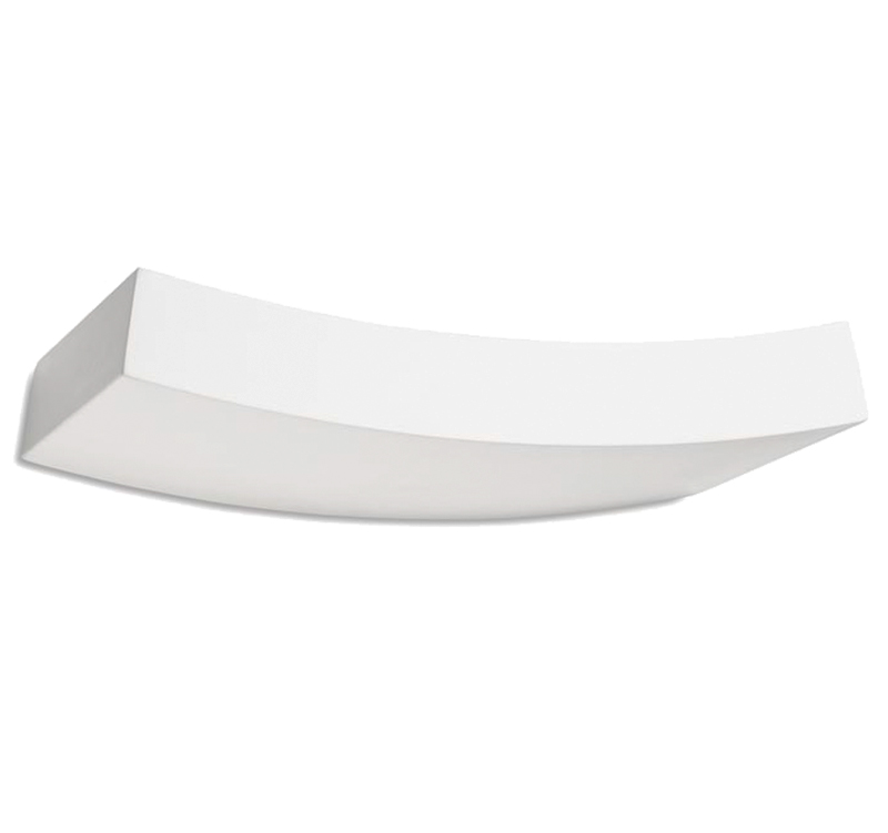 Leds C4 'Ges' Wall Uplighter, White Plaster - 05-1795-14-14