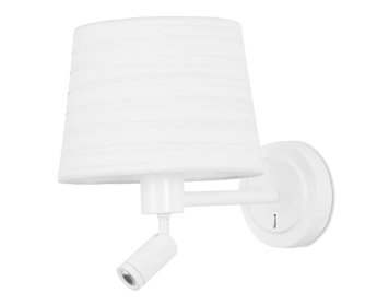 Leds C4 Michigan Wall Light With Directional LED Spot, Bright White Finish - 05-2758-14-82