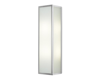 Leds C4 Flow 2 Light Bathroom Wall Light, Chrome Finish With Tinted Glass Diffuser - 05-3213-21-B4