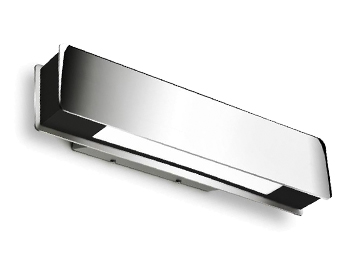 Leds C4 Belysa 320mm Bathroom Wall Light, Chrome & Black With White Diffuser - 05-4361-21-05