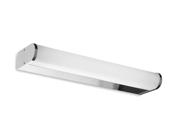 Leds C4 Toilet 320mm Over Mirror Bathroom Wall Light, Chrome Finish With Matt Opal Polycarbonate Diffuser - 05-4376-21-M1