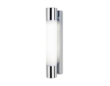 Leds C4 Dresde 370 18W Bathroom Wall Light, Chrome Finish With Opal Polycarbonate Diffuser - 05-4385-21-M1