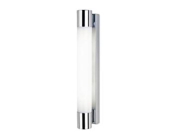 Leds C4 Dresde 470 24W Bathroom Wall Light, Chrome Finish With Opal Polycarbonate Diffuser - 05-4386-21-M1