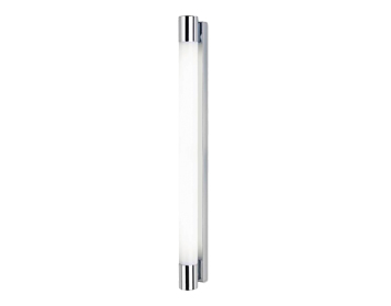 Leds C4 Dresde 700 40W Bathroom Wall Light, Chrome Finish With Opal Polycarbonate Diffuser - 05-4387-21-M1