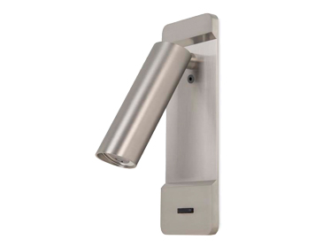 Leds C4 Lire Adjustable Surface/Recessed LED Wall Light, Satin Nickel Finish - 05-6024-81-81