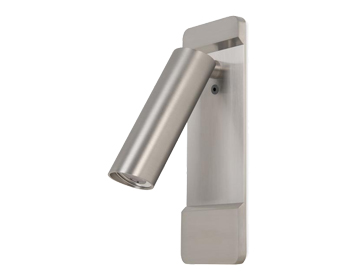 Leds C4 Lire Adjustable Surface/Recessed LED Wall Light, Satin Nickel Finish - 05-6068-81-81