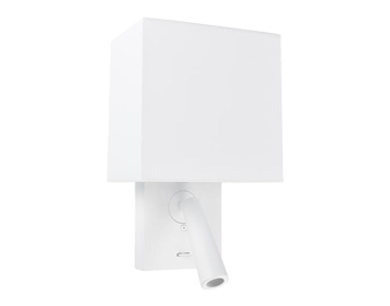 Gamma Led Lampen : Leds c gamma square led double wall light with reader white