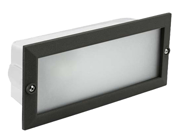 Leds C4 Hercules Aluminium Outdoor Recessed Wall Light, Black Finish - 05-8961-05-B8