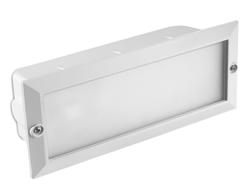 Leds C4 Hercules LED Aluminium 3000K Outdoor Recessed Wall Light, White Finish - 05-8961-14-CL