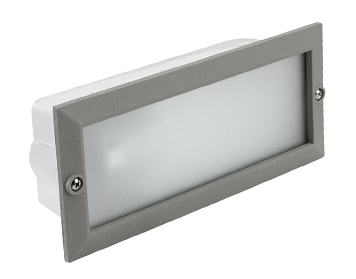 Outdoor recessed wall lights from easy lighting leds c4 hercules ip44 outdoor recessed wall light grey 05 8961 mozeypictures Gallery