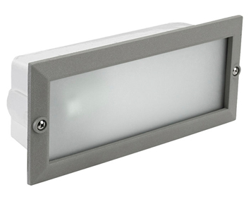 Leds C4 Hercules Outdoor Recessed Wall Light, Grey - SALE-05-8961-34-B8
