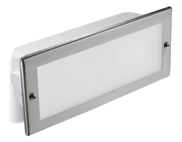Leds C4 Hercules LED Aluminium Outdoor Recessed Wall Light, Grey Finish - 05-8961-34-CL