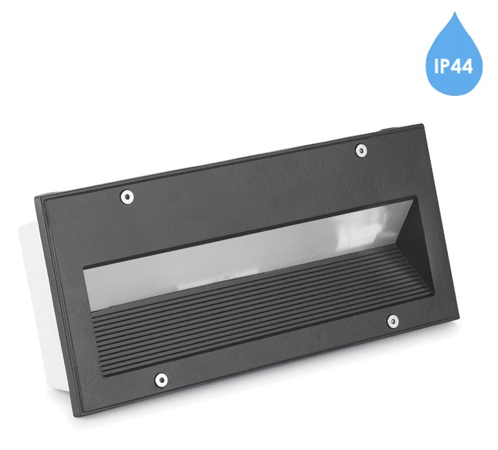 Leds c4 micenas ip44 outdoor recessed brick wall light urban leds c4 micenas ip44 outdoor recessed brick wall light urban grey finish aloadofball Image collections