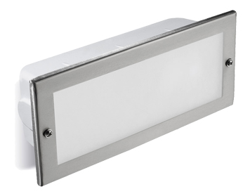 Leds C4 Hercules LED AISI 316 3000K Outdoor Recessed Wall Light, Polished Stainless Steel Finish - 05-9211-CA-CL
