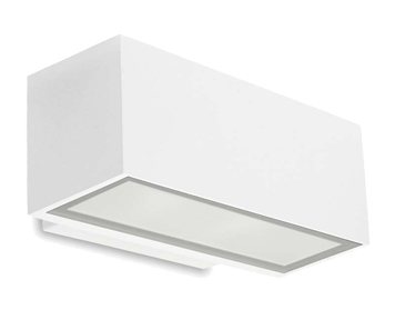 Leds C4 Afrodita Halogen Up & Down Outdoor Wall Light, White Finish - 05-9229-14-37