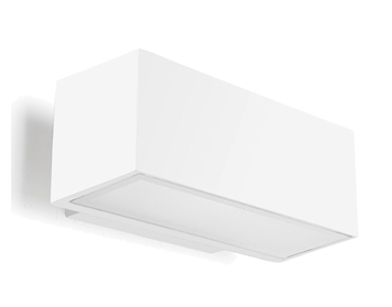 Leds C4 Afrodita Fluorescent Up & Down Outdoor Wall Light, White Finish - 05-9230-14-37