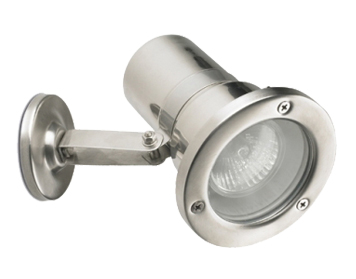 Leds C4 Helio AISI316 Adjustable Outdoor Spotlight, Grade 316 Stainless Steel Finish - 05-9310-CA-37