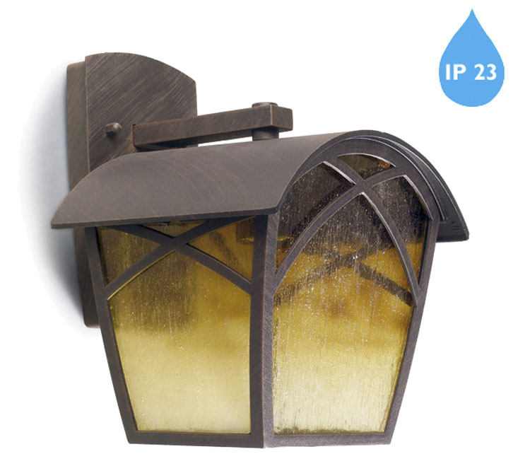 Leds C4 Alba IP23 E27 100w Outdoor Wall Light, Rustic Brown - 05-9350-18-AA from Easy Lighting