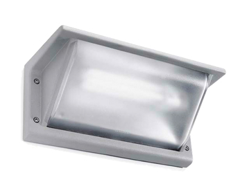 Leds C4 Curie PC 260mm Outdoor Wall Light, Grey Finish - 05-9408-34-M3