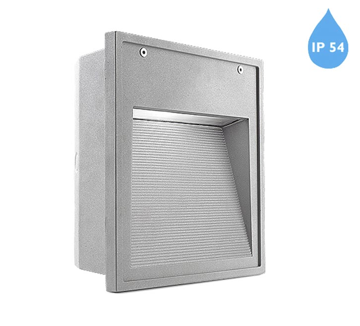 Leds C4 'Micenas' IP54 G24d-3 Outdoor Recessed Wall Light, Grey - 05-9434-34-T2 from Easy Lighting