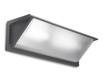 Leds C4 Curie PC 460mm Outdoor Wall Light, Urban Grey Finish - 05-9457-Z5-M3